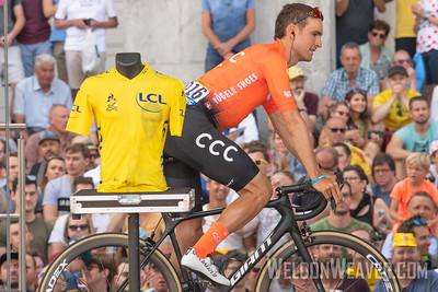 Joesph Rosskopf (USA). 2019 Tour de France. Stage 1 Brussels. Photo by Weldon Weaver.
