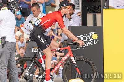 Chad Haga (USA) 2019 Tour de France. Stage 1 Brussels. Photo by Weldon Weaver.
