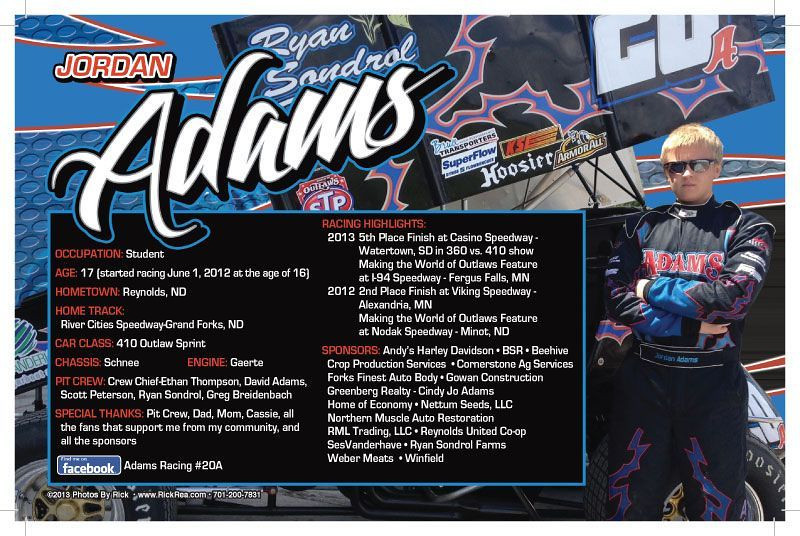 Jordan Adams Hero Card Back