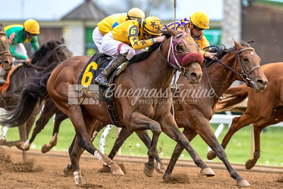 Top Me Off (Curlin) comes from behind to take 3rd in the 8th race (Maiden Claiming) at Keeneland 04/26/18. Jack Gilligan up, trained by Jeremiah O'Dwyer and owned by Howling Pigeons Farm, LLC.
