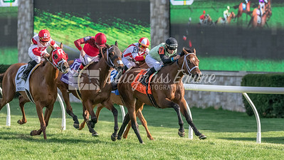 One Go All Go (Fairbanks) wins the Elkhorn Stakes (G2) at Keeneland on 4.21.2018. Chris Landeros up, Charles (Scooter) Dickey trainer, Rodney Paden owner.