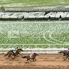 Opening Weekend of 2018 Spring Meet had a snowy start on Saturday, April 7, 2018