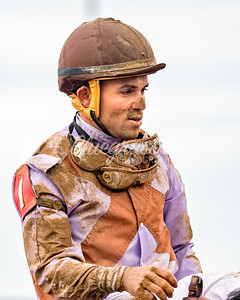 Joel Rosario after winning the 6th race at Keeneland 041418 riding Just Whistle (Pionerr of the Nile).
