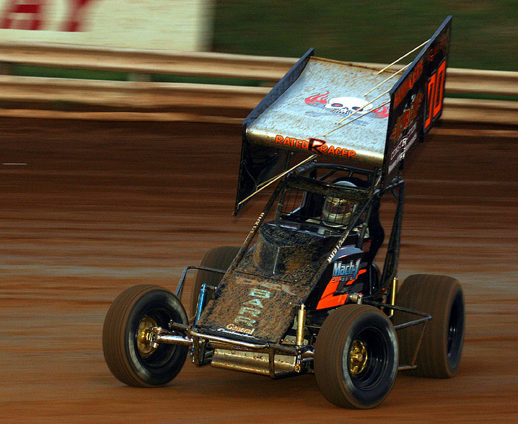 Rick Barr was the feature winner at Williams Grove at the Billy Kimmel Memorial 9-6-09.