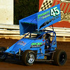 David Socks at Williams Grove in Hot Laps action.