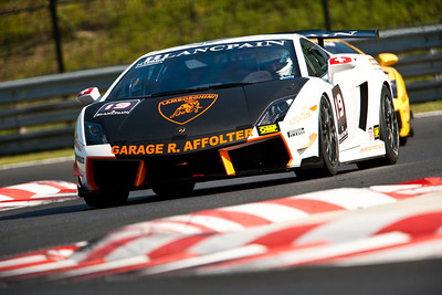 2010 Lamborghini Blancpain Super Trofeo. Hungaroring, Hungary.  21st - 22nd August 2010.  Ronnie Saurenmann / Herve Leimer, (Autovitesse Garage R, Affolter Suisse, Lamborghini Gallardo).  World Copyright: Drew Gibson. Digital Image _Y2Z2035