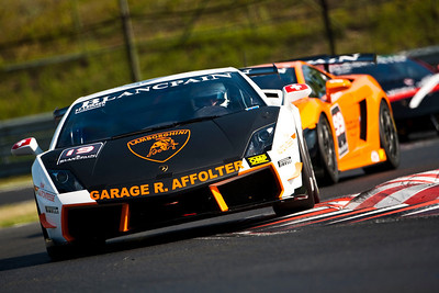 2010 Lamborghini Blancpain Super Trofeo. Hungaroring, Hungary.  21st - 22nd August 2010.  Ronnie Saurenmann / Herve Leimer, (Autovitesse Garage R, Affolter Suisse, Lamborghini Gallardo). World Copyright: Drew Gibson. Digital Image _Y2Z2014
