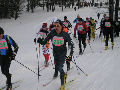 Climbing the first hill, right after the race start.