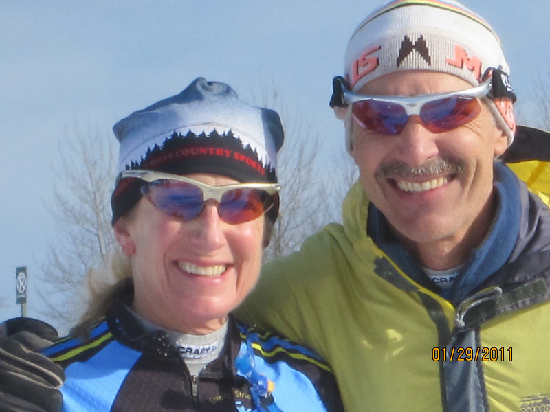 Gold dust twins. Tracy and John. Both age group winners in the 50K Classic.