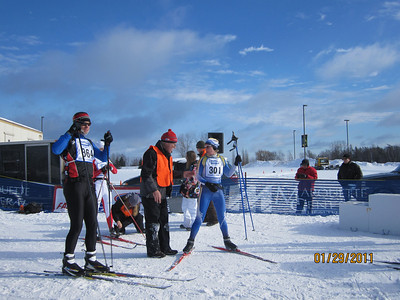 Paulette Neimi winner of the Womwn's 51K Freestyle. If you ski at ABR she will be out on the trails.