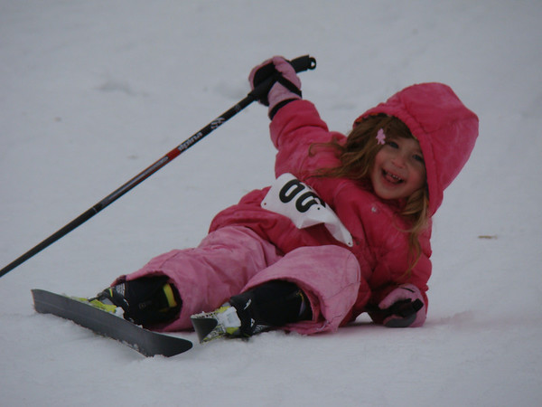 Kids at the Frosty Freestyle cross country ski race