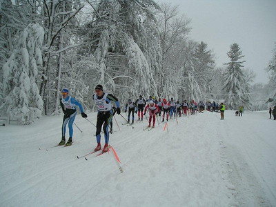 Against all odds in worst conditions to get there....How great for this many stalwart Ski Racers finding a way!