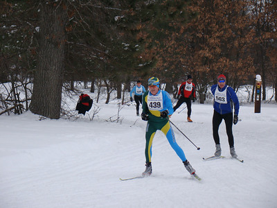 Robin Luce (439) skied the entire 30km with one pole because of a shoulder injury from an early race at Boyne Highlands. Way to go Robin!