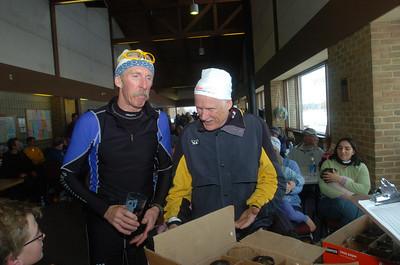 Team NordicSkiRacer's Bill Kaltz and Grand Rapids Nordic's Steve Smegiel.