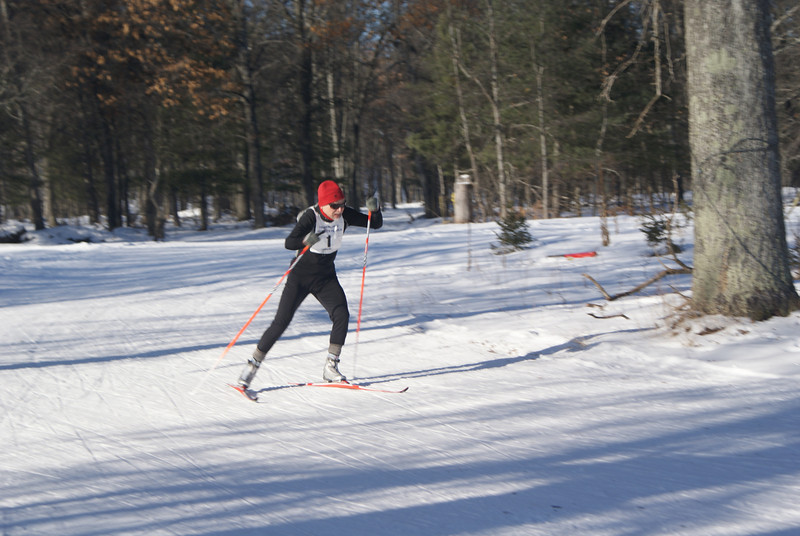 First racer in the pre-heat time trial. The time trial was used to seed the initial heats. Times from the time trial also serve as tie-breakers between skiers who finish in the same place across heats.