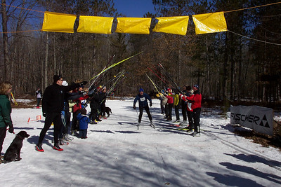 Last Cross Country Ski Headquarters racer across the finish line: Jeff Forshey.