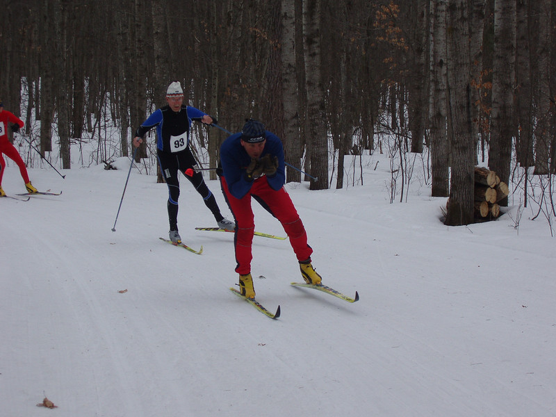 Is that Kip leading Doug Heady (Team NordicSkiRacer.com)?
