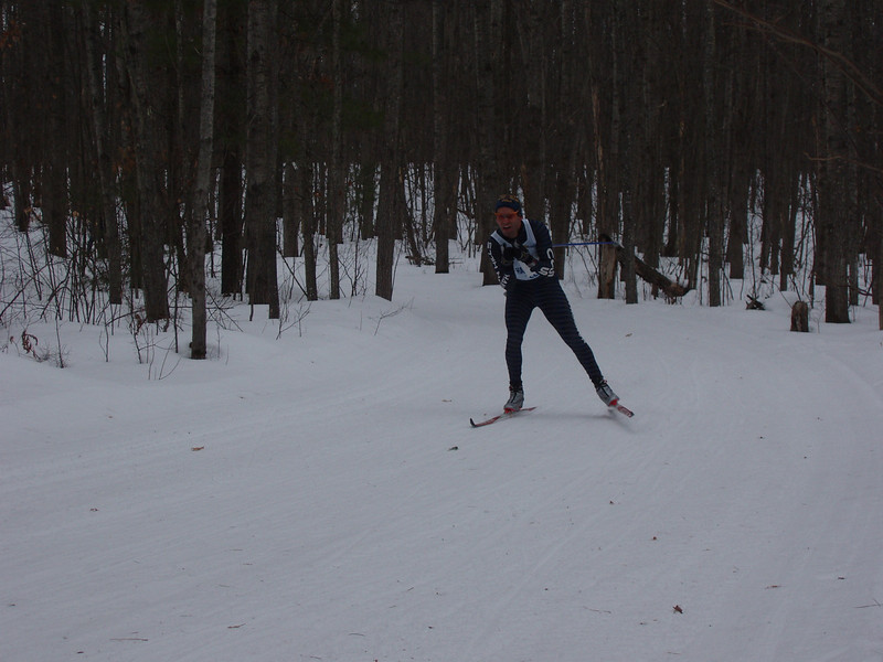 Glenn Goodman (Hanson Hills/Cross Country Ski Shop) in fifth at the end of Rolling Hills.