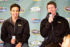 Subway500 Grand Marshal Apolo Anton Ohno and Carl Edwards address the media prior to Sunday's race.