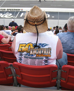 Here's the Aussie after he woke up.  I wore my Knoxville Nationals t-shirt (from the weekend before) thinking someone might recognize it.  This guy had on the same t-shirt (well, mine still had sleeves).  Turns out they were at the Nationals too.