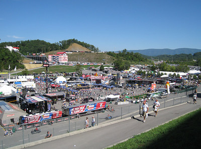 The vendor area outside of the track.