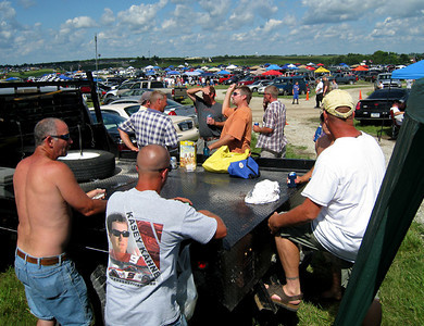 Tailgating before the race