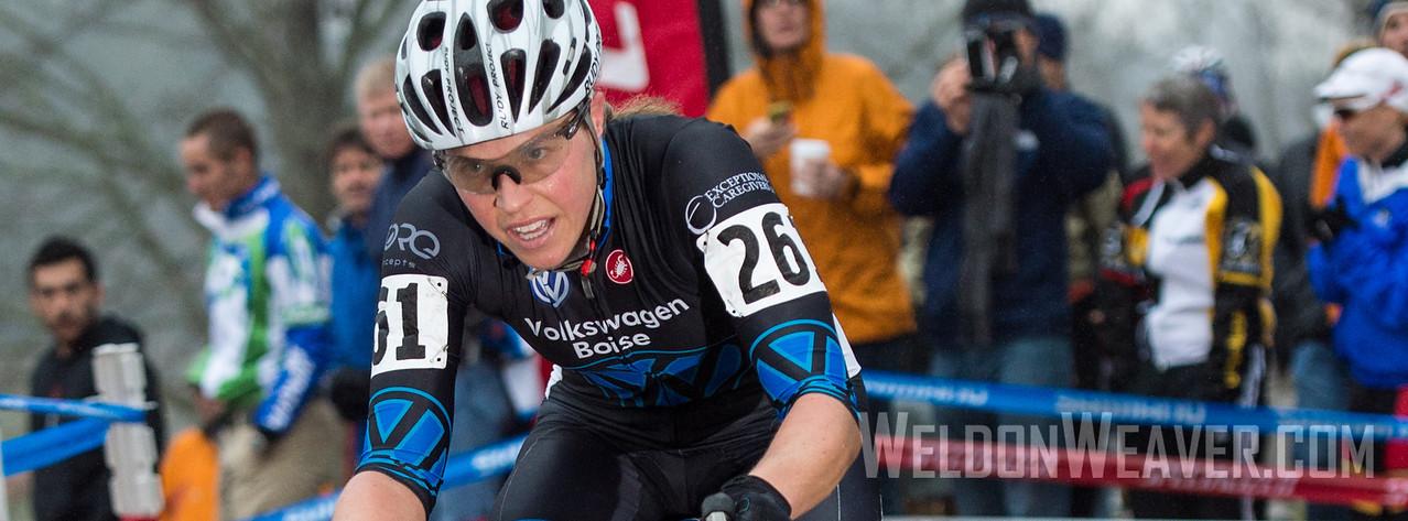 Amanda Carey. boo bicycles. 2012 NCCX11 Hendersonville. UCI Elite Women. Photo by Weldon Weaver.