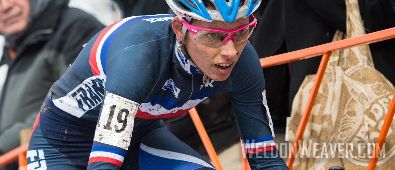 Lucie CHAINEL-LEFEVRE.  2013 CX Worlds. Louisville, KY USA. Photo by Weldon Weaver