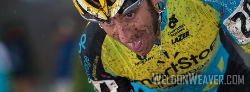 Adam Myerson. Team Mountain Khakis/SmartStop. 2012 NCCX11 Hendersonville. UCI Elite Men. Photo by Weldon Weaver.
