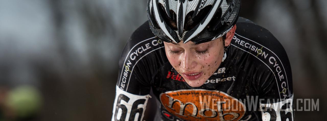 Emily Shields. MOB Pro CX Team. 2012 NCCX11 Hendersonville. UCI Elite Women. Photo by Weldon Weaver.