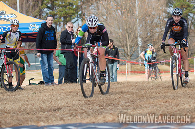 Allison Arensman wins the State Championship sprint from first position out of the last turn.  She beat 2011 State Champion Emily Shields.  2012 NCCX8 Charlotte, NC.  Photo by Weldon Weaver.