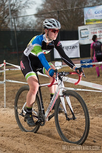 Allison Arensman. 2012 NCCX8 Charlotte, NC.  Photo by Weldon Weaver.