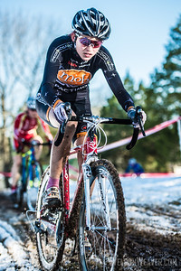 Emily Shields. NCCX#15 Greensboro.  Jan 20, 2013.  Photo by Weldon Weaver.