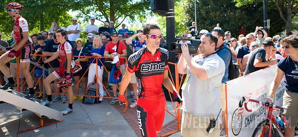 George Hincapie. US Pro Cycling Championship Greenville, SC, 2010.