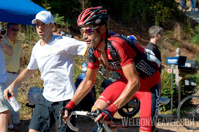 George Hincapie climbs Paris Mountain at 2010 USA Cycling Professional Road Championship