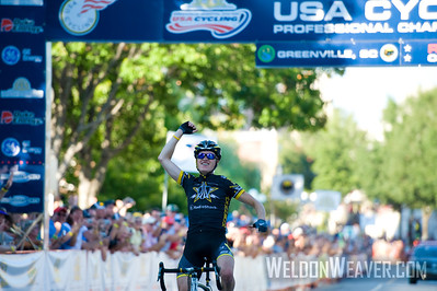 Benjamin King, wins the 2010 USA Cycling Professional Road Championship.