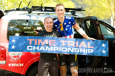 Allen Lim and Taylor Phinney. 2009 US Pro, Greenville.