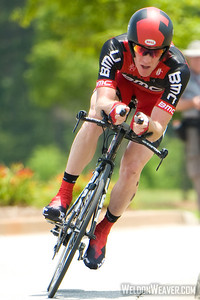 US Pro Cycling Championship Time Trial Greenville, SC, May 28, 2011.Brent Bookwalter.  Photo by Weldon Weaver.