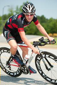 Tyler Karnes (BMC/Hincapie Sportswear Development Team).  2012 US Pro Time Trial Championship May 26, 2012.