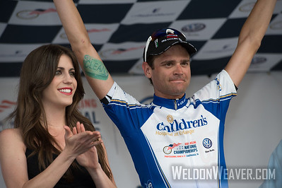 Phil Gaimon was awarded the Most Couragous Rider.  2013 US Pro Championships.  Chattanooga, TN.  Photo by Weldon Weaver.