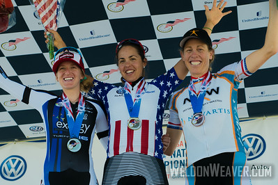 Kristin McGrath (Exergy TWENTY16), Carmen Small (Specialized-lululemon) and Alison Powers (NOW and Novartis for MS) 2013 US Pros Time Championship.  Chattanooga.  Photo by Weldon Weaver.
