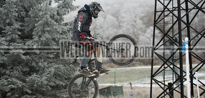 Practice runs USA Cycling Collegiate Mountain Bike National Championships Oct. 25 - Beech Mountain, NC.  Photo by Weldon Weaver