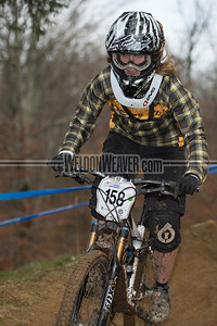 Downhill Division 1 and Division 2 Women.  USA Cycling Collegiate Mountain Bike National Championships Oct. 26 - Beech Mountain, NC.  Photo by Weldon Weaver.