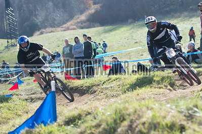 Dual Slalom Division 1 and Division 2, Men and Women.  USA Cycling Collegiate Mountain Bike National Championships Oct. 27 - Beech Mountain, NC.  Photo by Weldon Weaver.