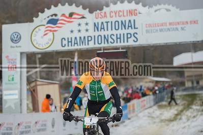 Short Track Division 1 Men.  USA Cycling Collegiate Mountain Bike National Championships Oct. 25 - Beech Mountain, NC.  Photo by Weldon Weaver.