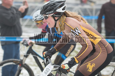 USA Cycling Collegiate Mountain Bike National Championships Oct. 25-27 - Beech Mountain, NC.  Division I Women.  Linnea Dixson, University of Wyoming.  Photo by Weldon Weaver.