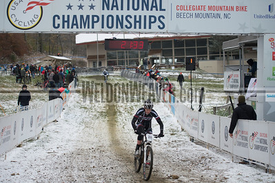 Short Track Division 2 Men.  USA Cycling Collegiate Mountain Bike National Championships Oct. 25 - Beech Mountain, NC.  Photo by Weldon Weaver.