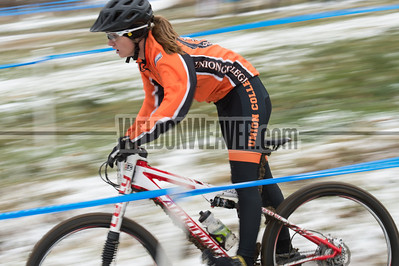 Short Track Division 2 Women.  USA Cycling Collegiate Mountain Bike National Championships Oct. 25 - Beech Mountain, NC.  Photo by Weldon Weaver.