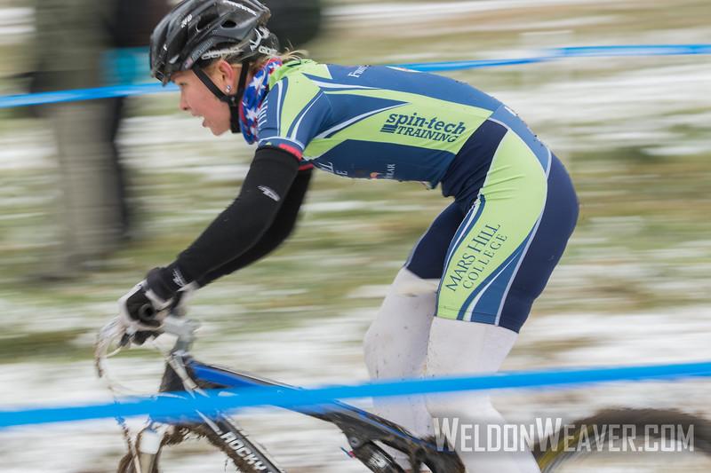 Short Track Division 2 Women.  USA Cycling Collegiate Mountain Bike National Championships<br /> Oct. 25 - Beech Mountain, NC.  Photo by Weldon Weaver.