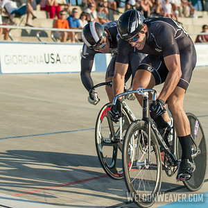 Sprint Finish.  2014 Track Nats Rock Hill.  Photo by Weldon Weaver.